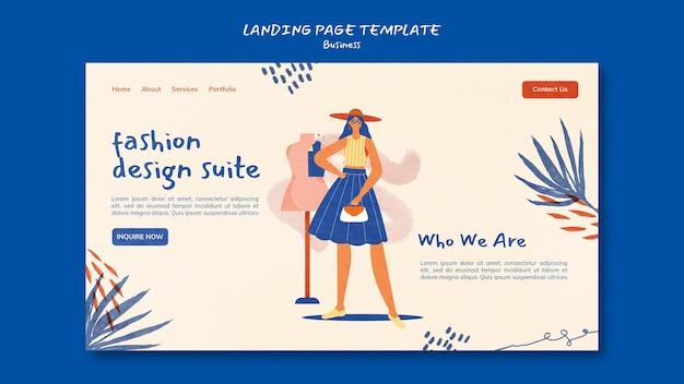 Page de destination des entreprises de mode