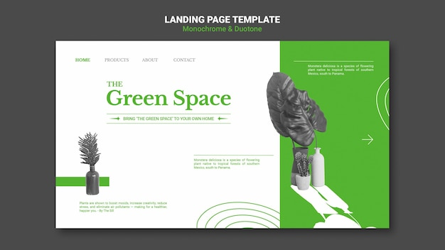 Page de destination des espaces verts