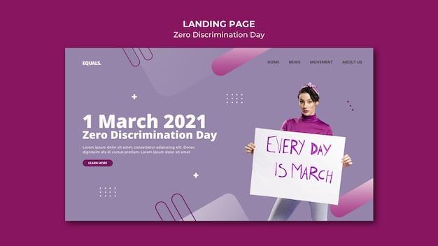 Page de destination de l'événement de la journée zéro discrimination