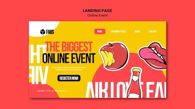 Page De Destination De L'événement En Ligne PSD Premium