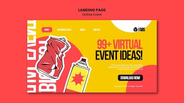 Page de destination de l'événement en ligne