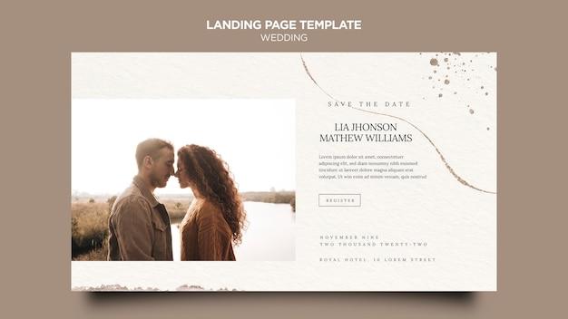Page de destination de l'événement de mariage