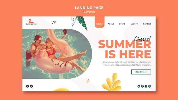 Page de destination de la fête d'été
