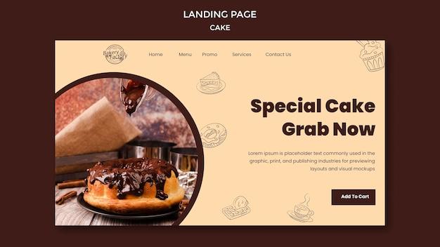 Page de destination de la grande ouverture de la pâtisserie