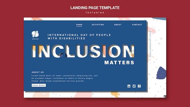 Page de destination de l'inclusion