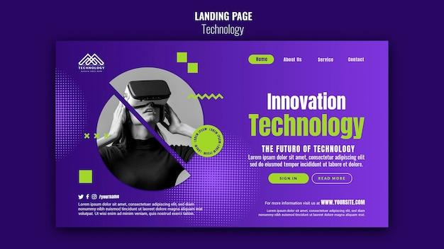 Page de destination de l'innovation technologique