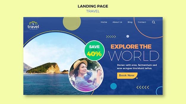 Page de destination itinérante avec photo