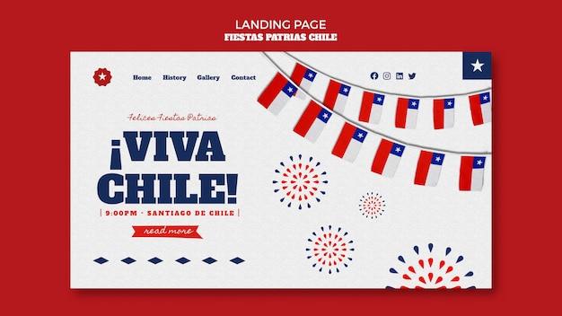 Page de destination de la journée internationale du chili