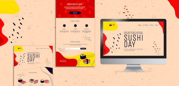 Page de destination de la journée internationale du sushi