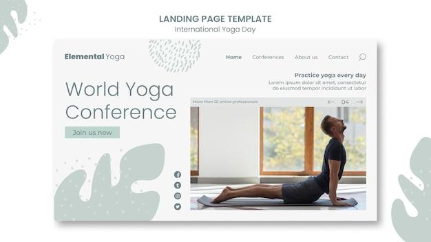 Page de destination de la journée internationale du yoga