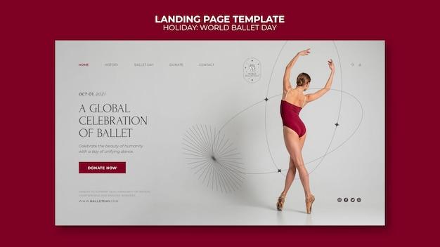 Page de destination de la journée mondiale du ballet