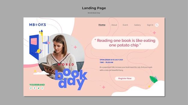 Page de destination de la journée mondiale du livre