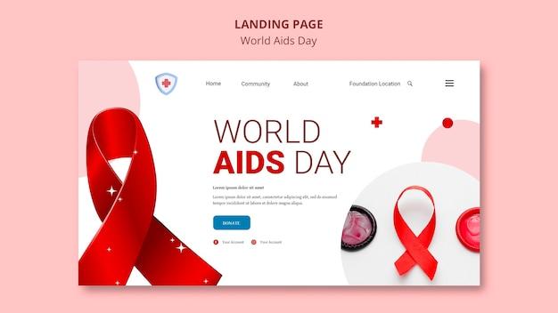 Page de destination de la journée mondiale du sida