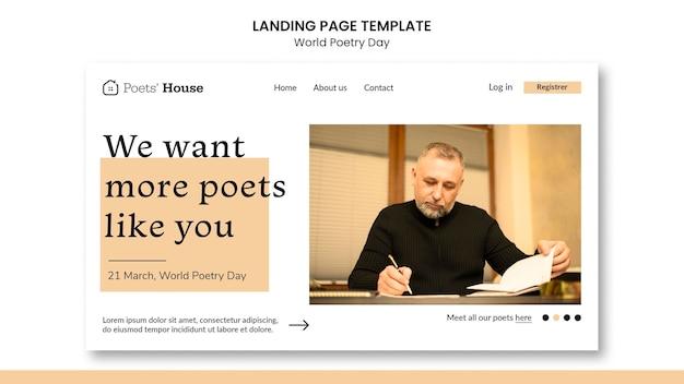 Page de destination de la journée mondiale de la poésie