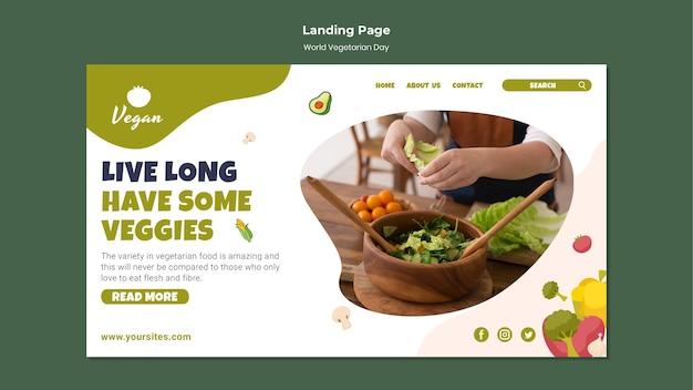 Page de destination de la journée mondiale des végétariens