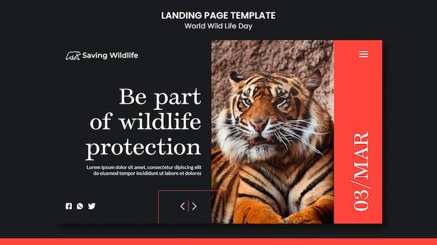 Page de destination de la journée mondiale de la vie sauvage
