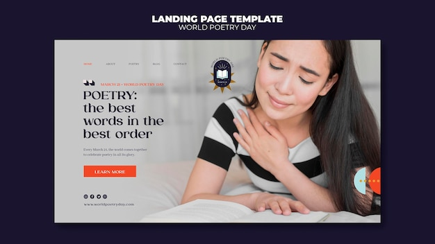 Page de destination de la journée de la poésie