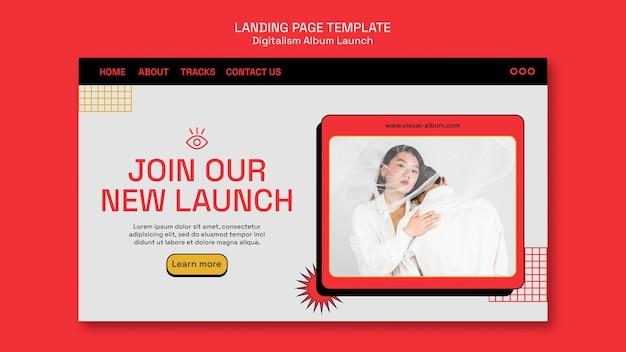 Page de destination de lancement de l'album digitalism