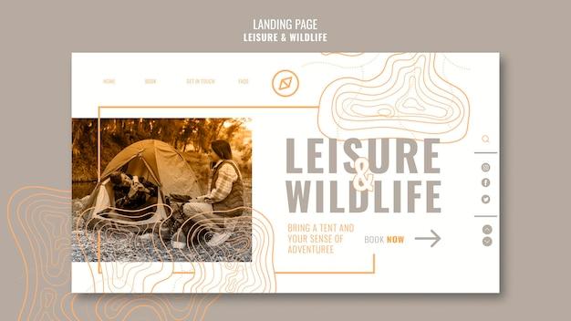 Page de destination des loisirs et de la faune