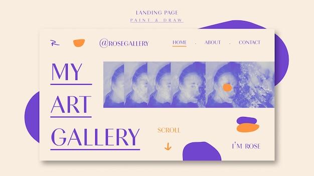 Page de destination de ma galerie d'art
