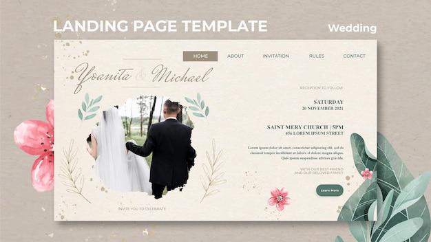 Page de destination de mariage