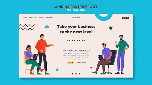 Page de destination marketing