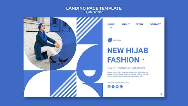 Page de destination de la mode hijab