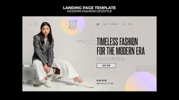 Page de destination de la mode moderne