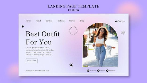 Page de destination mode et style