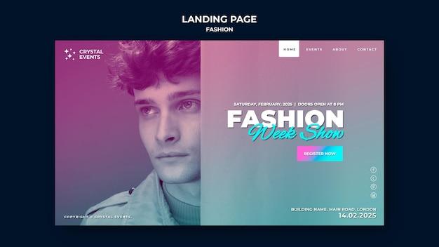 Page de destination de la mode