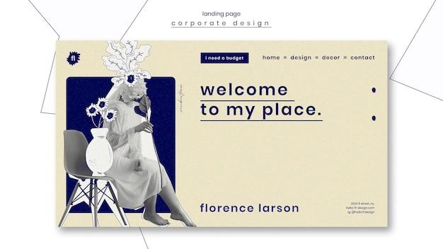 Page de destination de modèle professionnel d'aménagement paysager