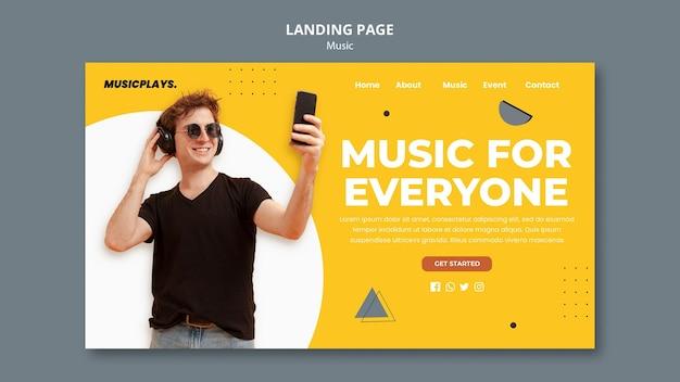 Page de destination de la musique pour tous