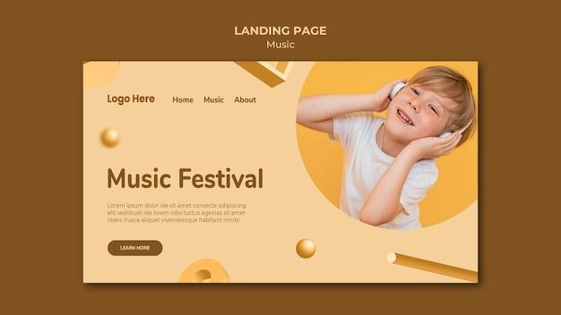 Page de destination de la musique