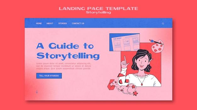 Page de destination de la narration