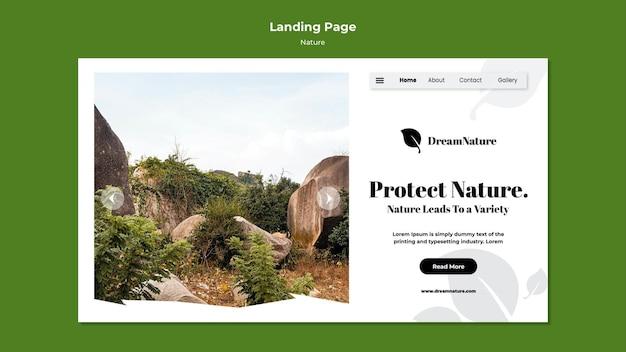 Page de destination de la nature