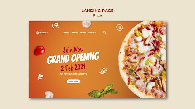 Page de destination de la pizza