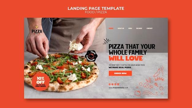 Page de destination de la pizzeria