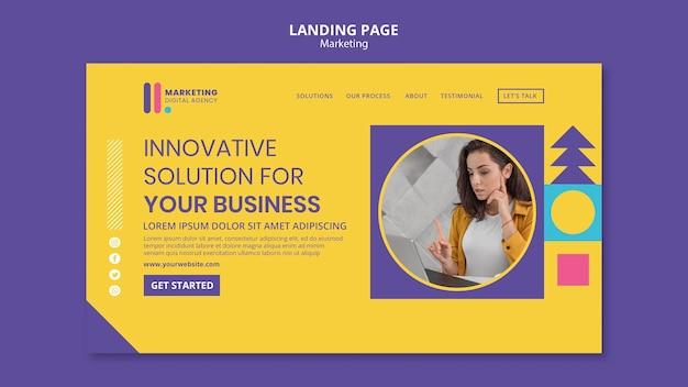Page de destination pour une agence de marketing créatif