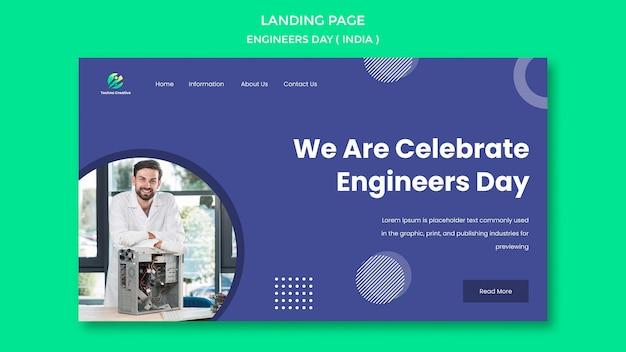 Page de destination pour la célébration de la journée des ingénieurs
