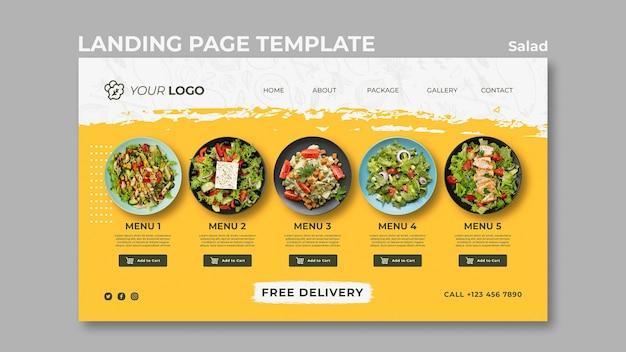 Page De Destination Pour Un Déjeuner Salade Santé PSD Premium