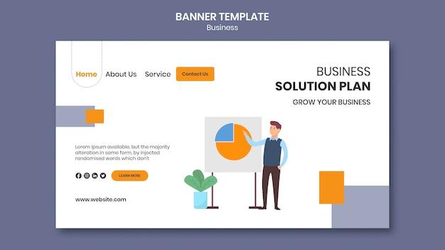 Page de destination pour entreprise avec plan d'affaires créatif