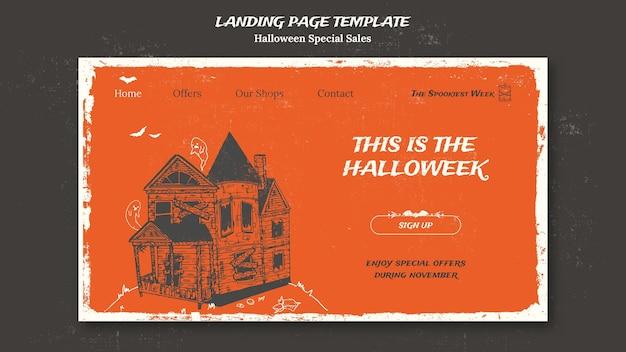 Page de destination pour halloweek