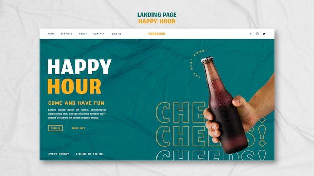 Page de destination pour l'happy hour