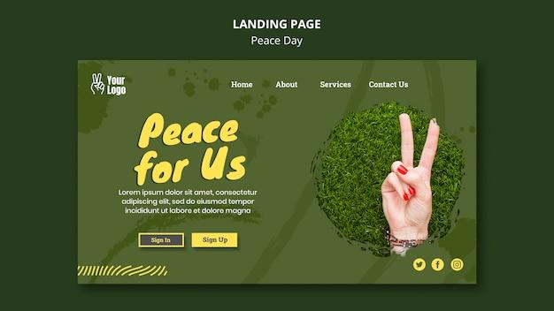Page de destination pour la journée mondiale de la paix