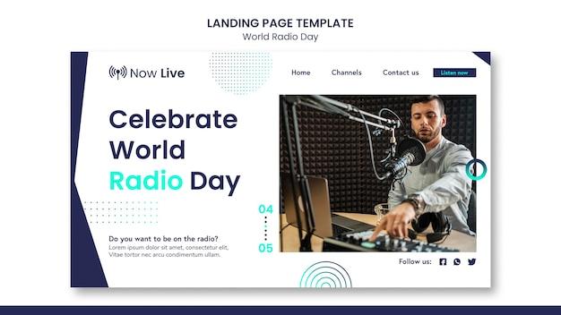 Page De Destination Pour La Journée Mondiale De La Radio PSD Premium