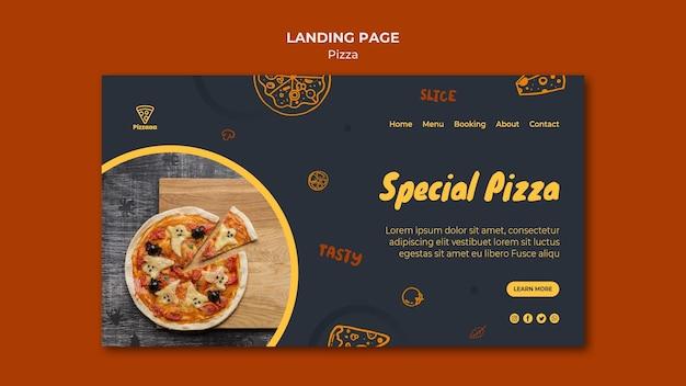 Page de destination pour pizzeria