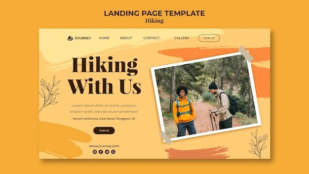 Page de destination pour la randonnée