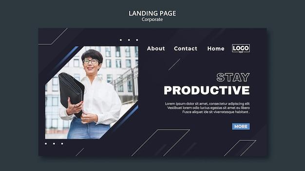 Page de destination pour société commerciale professionnelle
