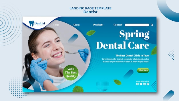 Page de destination pour les soins dentaires