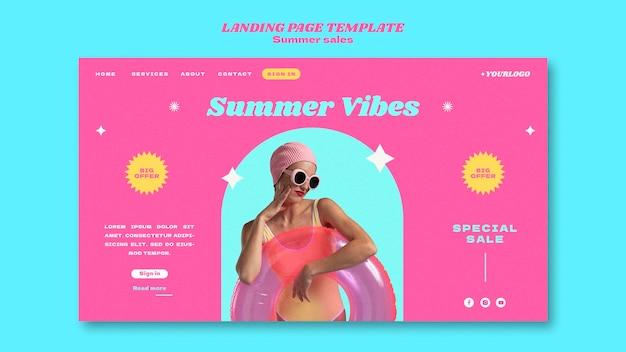 Page de destination pour les soldes d'été